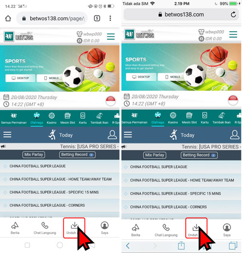Cara Download TBSBET Betwos APK